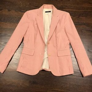 Pink and White Colored Blazer